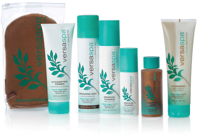 Sunless tanning products by VersaSpa